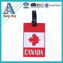 Promoitonal 3D soft silicone eco-friendly luggage tag wholesale