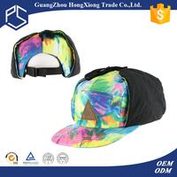 100% cotton simple plain snapback cap hats rope ear cover hat