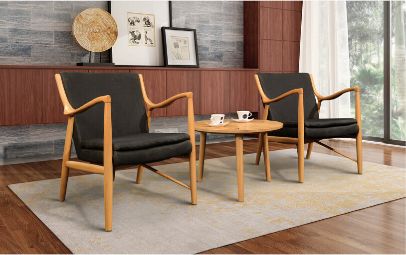round back dining chair with solid wood frame living room furniture