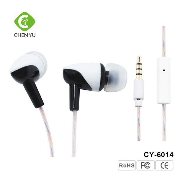 Mobile phones accessories handsfree wired stereo fancy earphone with mic