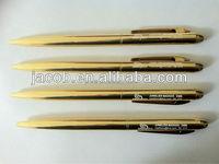 Gold metal pen 500pcs with customize logo free shipping