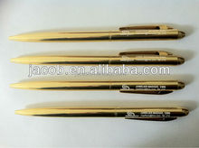 Gold metal pen 500pcs with customize logo free shipping