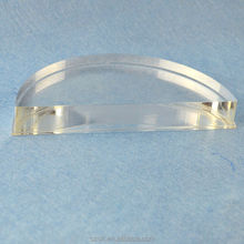 great custom design clear acrylic semi-circle display block stand factory low price