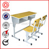 SJ-137 steel frame student double desk with chair