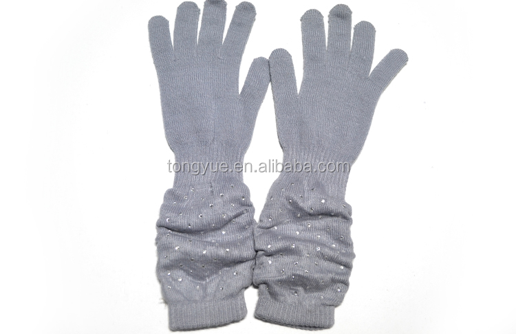 New arrival Long style hot sale warm Wool Gloves