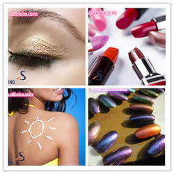 eyeshadow and nails polish raw materials mica pearlescent pigments