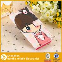 Mix colors cute flip wallet leather case for iphone 5c,cute case for iphone 5c