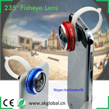 Circular Clips 360 degree Super Fisheye Lens clip-on for iPhone 6 Plus 5s LG Blackberry HTC one M7 M8 M9 Samsung S6 S5 S4