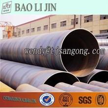 X40 X60 X65 sprial soldada de petróleo y gas bolsa de tubo de acero con API estándar