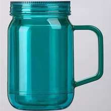22oz double wall colored plastic tumblers