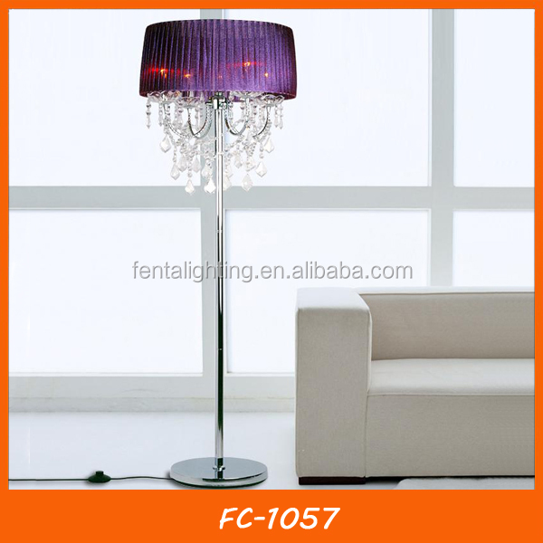 purple color home goods floor lamps with fabric lamp cover sld 33661. Black Bedroom Furniture Sets. Home Design Ideas