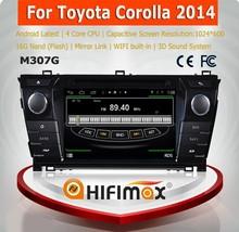HIFIMAX Android 4.4.4 toyota corolla cars 2014/car gps navigation toyota corolla 2014/corolla verso car dvd gps