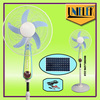 Promotional ac dc fan with solar panel 12 Lights with 12v mini fan motor