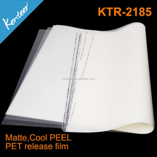 high quality easy peel off screen printing PET release film