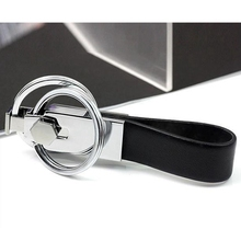 Hot Selling High Quality Keyring Double Rings Detachable Leather Key chain