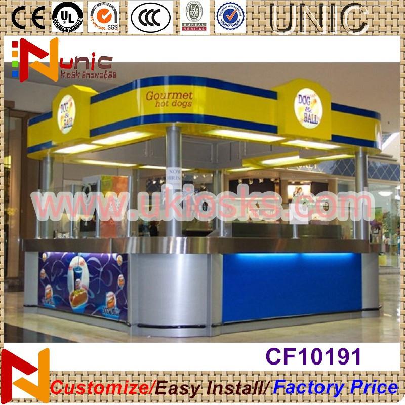 12x10feet food kiosk for sale sushi showcase indoor food for Indoor food kiosk design