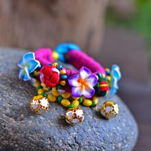 Handmade Lucky Ball Woven Beads Japanese Chirimen Bracelet