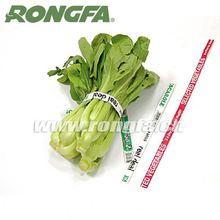 Venta al por mayor de papel / frutas y verduras de plástico nombres impreso lazo de torcedura