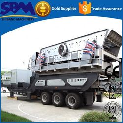 High safety portable type mobile crushing & screening plant