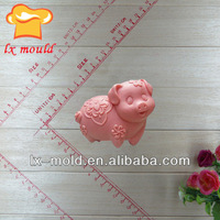 Chinese zodiac handmake molds pig soap mold