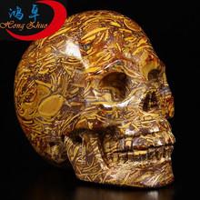 Super Rock Crystal Singing Skull Beautiful Carving Crystal Skull For Sale Natural Hollow Skull Wholesale