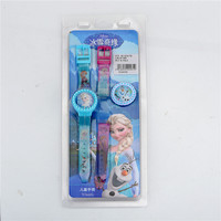Clearance cheap kid frozen disney plastic watch with interchangable straps and dial