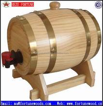 3L personalizável vinho madeira de pinho barris