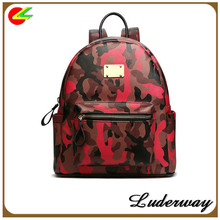 2015 hot selling minion camo picture of school backpack bag for sexy girls