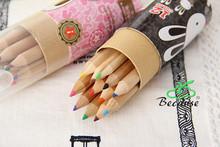 wj029 wood color pencil / wooden pencil color / wholesale colour pencil