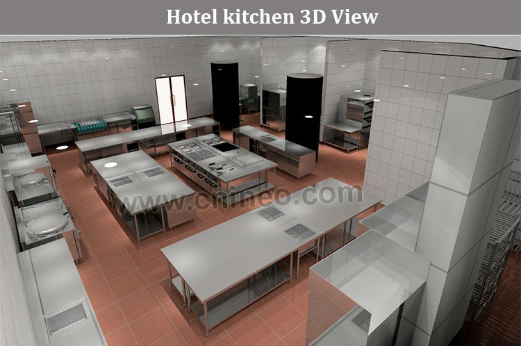 Professional restaurant and hotel kitchen design free 3d for Commercial kitchen designs free