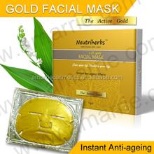 Anti-aging 24k Gold Crystal Facial Mask 3pcs/box On Hot Sale