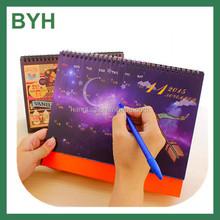 hot sale Art paper colorful print calendar,mini paper calendars,paper funny desk calendar