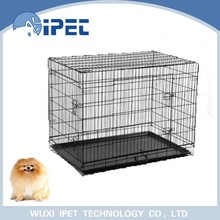 Tough coated wire pet display cage with ABS pan