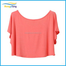 Han edition strapless short sleeve T-shirt female blouse sleeve short head show hilum small batwing coat