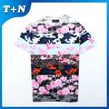 2015 hotsale flor impresa camiseta fabricantes de color rosa en EE.UU