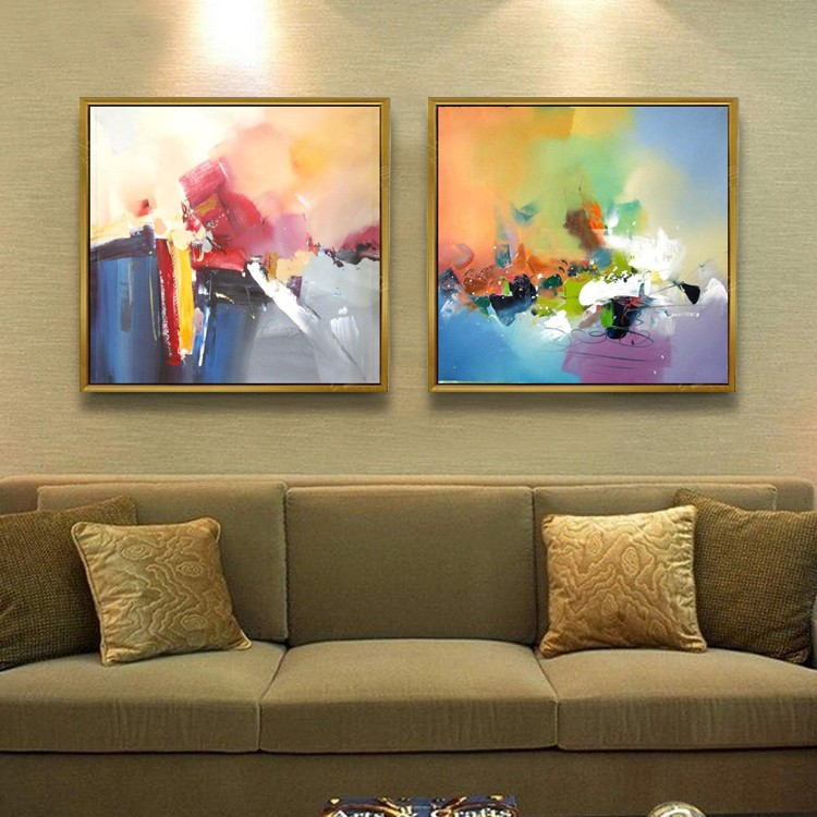 Modern Wall Frame Decor : Furniture decor modern wall art canvas abstract with