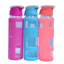 2015 blue glass solar water bottle