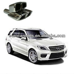 High quallity and hot sale muffler tips, mercedes exhaust tips for Benz ML-CLASS W166 style