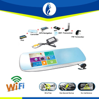 shenzhen windrunner new research easy to intall 5.0 inch screen 1080P android WiFi wireless gps bluetooth wifi car mirror dvr