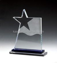 high-grade K9 crystal trophy five-pointed star trophy Crystal trophy creative custom