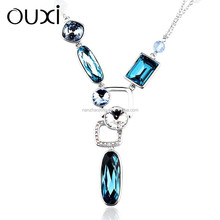 11043-1 OUXI New arrival women's fashion crystal chain necklace