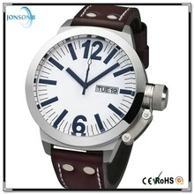 2015 new products top sales big dail watch stainless steel 316L case luxury mens watch