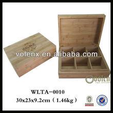 Custom Natural Finish Bamboo Box Bamboo Products Wholesale (SGS&BV)