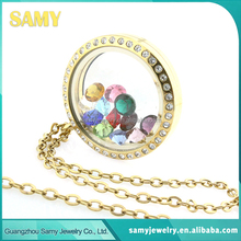 China wholesale fashion style glass floating living memory locket and charms