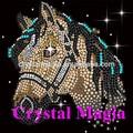 hierro en transferencia de caballo para su camisa, bling bling joyería motivo de arreglo caliente