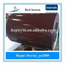 new red brown ppgi used for Building materials like Roof panel, Sandwich board, Door plate
