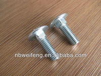 zinc plated high strength flat head carriage bolt stainless steel din603 m4