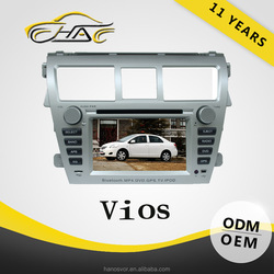 2 Din Car DVD Player For Toyota Vios GPS Navigation Radio Audio System
