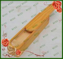 Cheap customized handmade multipurpose sliding wooden pen case wooden pencil box,wooden pencil box with slide top