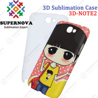 3D Sublimation Blanks Phone Case for Samsung Galaxy N7100 NOTE2
